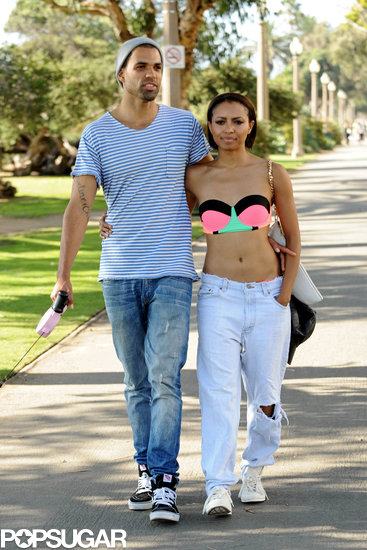 Kat Graham took a stroll with her fiancé, Cottrell Guidry, in LA.