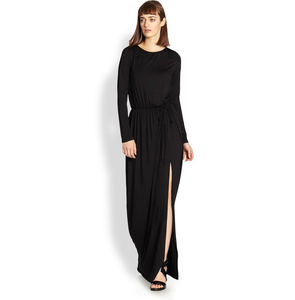 You'll be covered up from the chill in this long-sleeved Rachel Pally Ellery dress ($238) — albeit with a stem-baring slit.