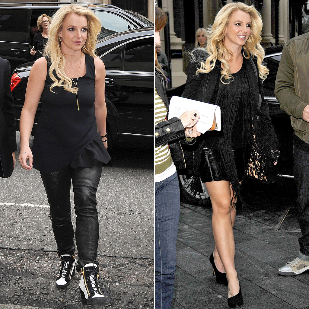Britney Spears Sports Her Blackout Best Overseas