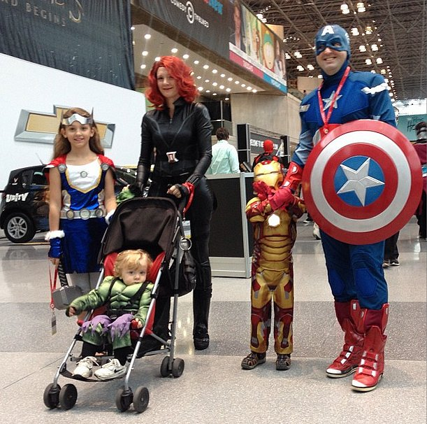 Thor, Hulk, Black Widow, Iron Man, and Captain America