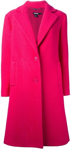 Dkny single breasted coat
