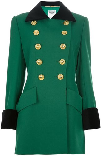 Céline Vintage bi-colour double breasted coat