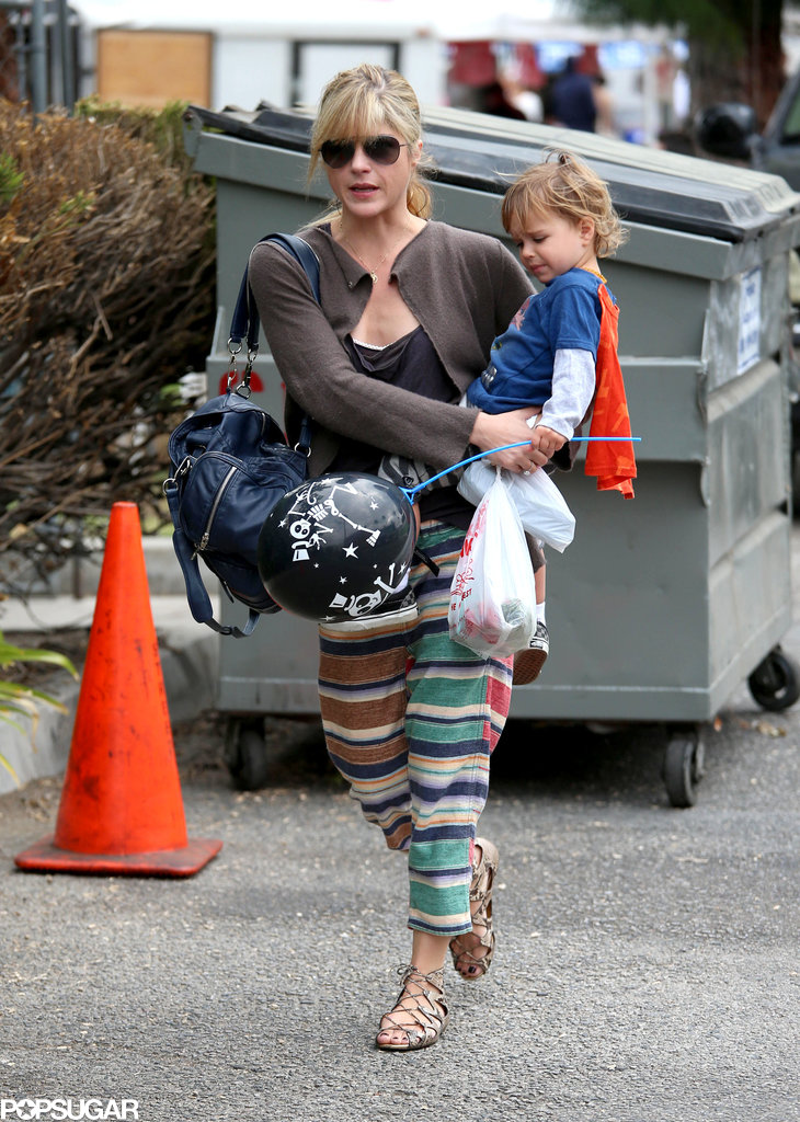 Selma Blair headed to an LA farmers market with her son, Arthur.