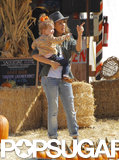 Jessica Alba and Haven Warren went to an LA pumpkin patch.