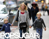 Naomi Watts and her boys walked home from school in NYC.