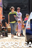 Mark Wahlberg Proves That Even Tough Guys Love the Pumpkin Patch