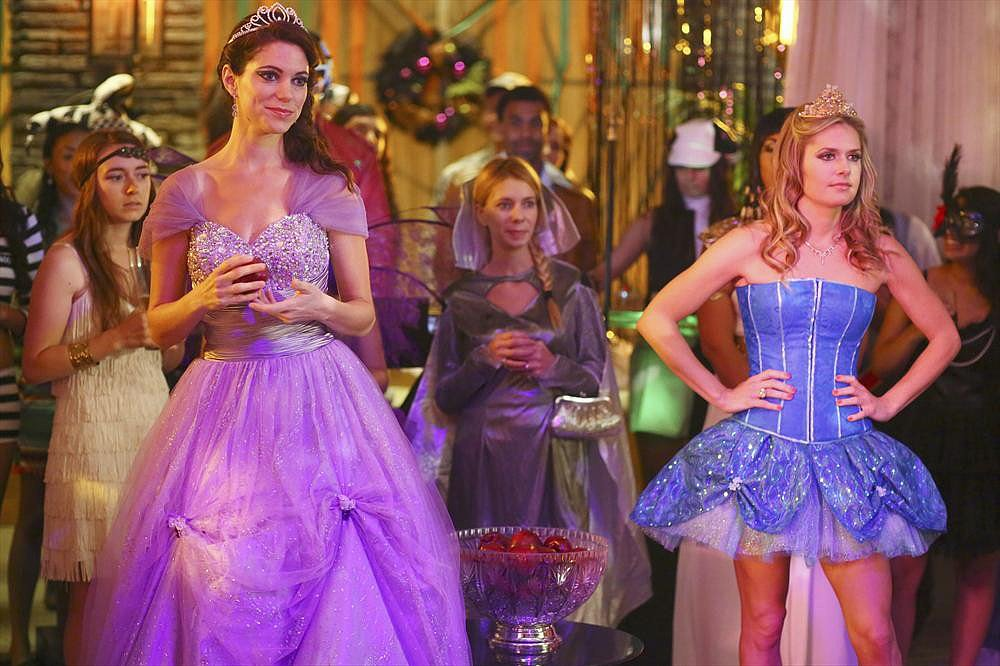 Back in the Game Courtney Henggeler and Maggie Lawson both go the fairy princess route on Back in the Game.