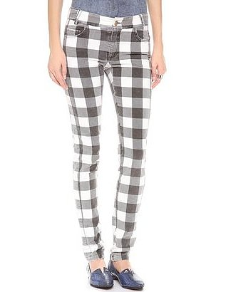 Update your printed jean collection this Fall with a pair of plaid 10 Crosby velvet skinnies ($221, originally $295).