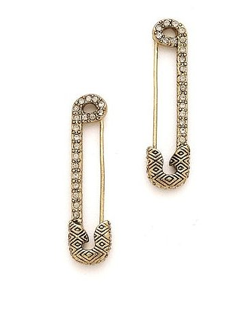 For just a touch of punk in your day, try House of Harlow's safety pin earrings ($59, originally $78).