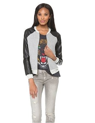 In the market for a bomber? We love this black and gray combo ($137, originally $183) from A Fine Line.