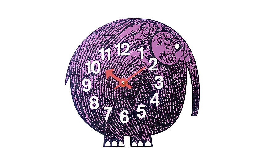 Although it is meant for a kid's room, we are considering placing the Elihu the Elephant Wall Clock ($145, originally $170) above our desk! What could be more motivating than a purple elephant?