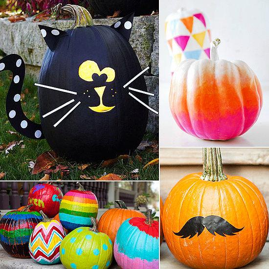 No Carve Pumpkin Ideas For Kids From Pinterest Popsugar Moms