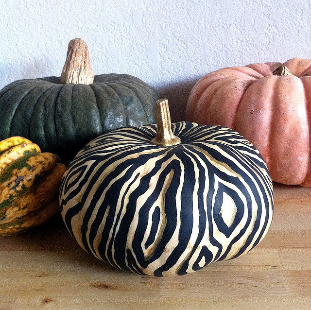Wood Grain Pumpkin