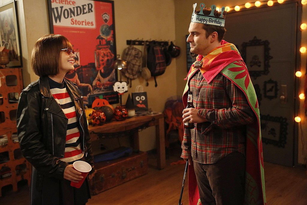 "New Girl Jess dresses as ""Joey Ramona Quimby"" and Nick throws together a low-budget costume."