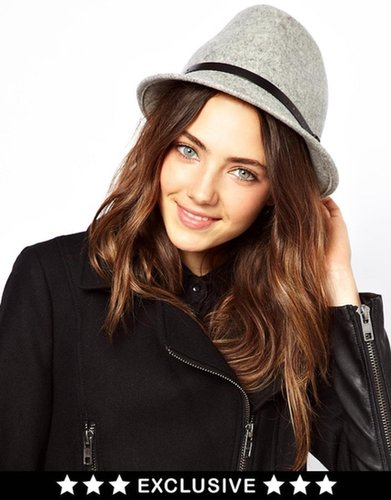 Catarzi Exclusive To ASOS Short Brim Fedora Hat
