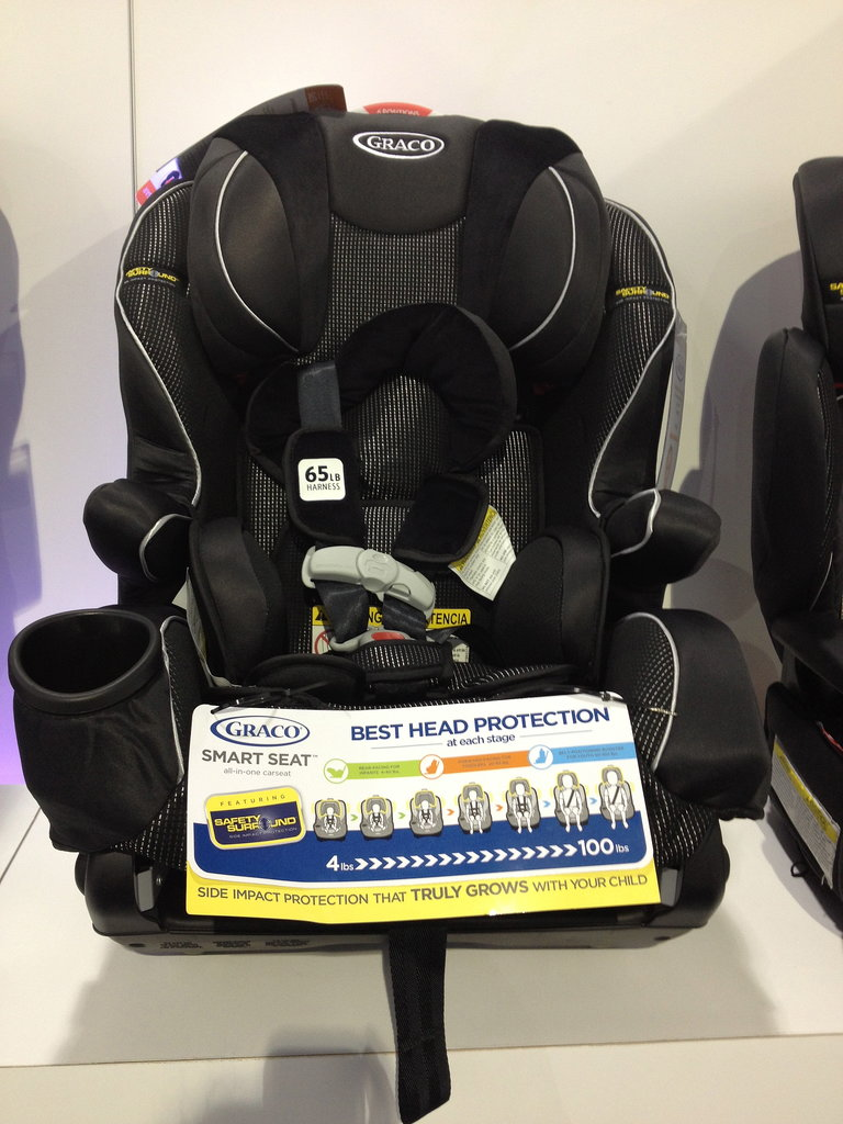 Graco's Smart Seat Featuring Safety Surround is truly an all-in-one seat. It fits kids from birth up to 100 pounds!