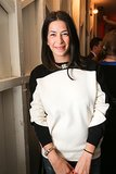 Rebecca Minkoff arrived for The Lunchbox Fund's launch in a cozy colorblock style.