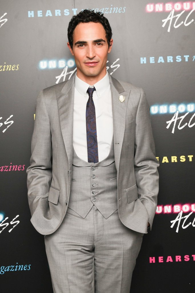 Zac Posen suited up in a gray ensemble at Hearst's Unbound Access.