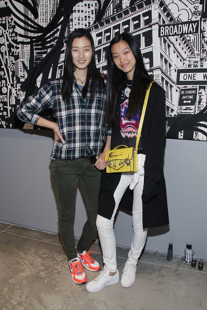 Lina Zhang and Tian Yi stopped by the SoHo Joe Fresh shop's opening night.