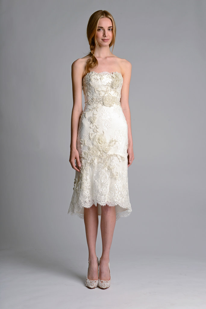 The trends of the wedding dress UK fall 2014 short style 5