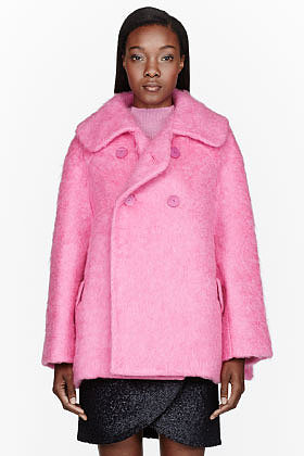 CARVEN Fluorescent Pink Cotton Candy Jacket