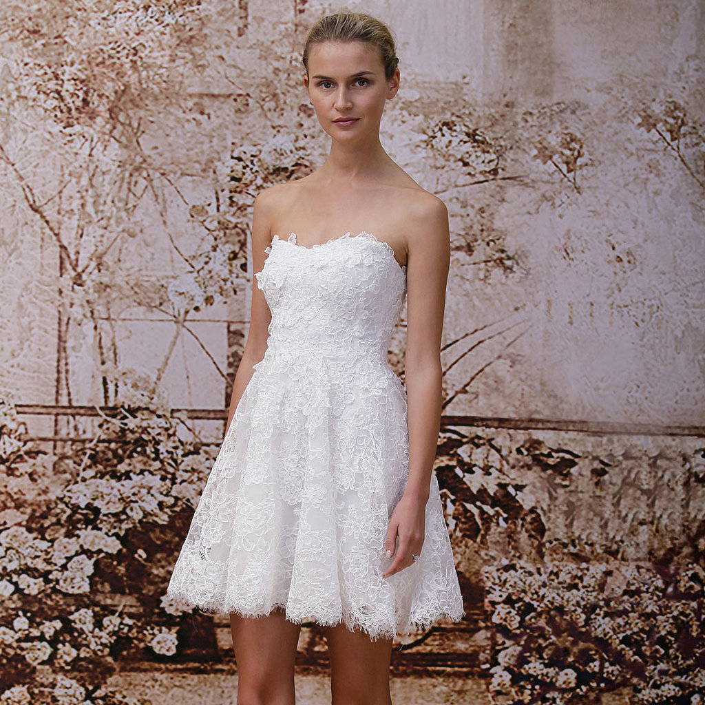 The trends of the wedding dress UK fall 2014 short style 1