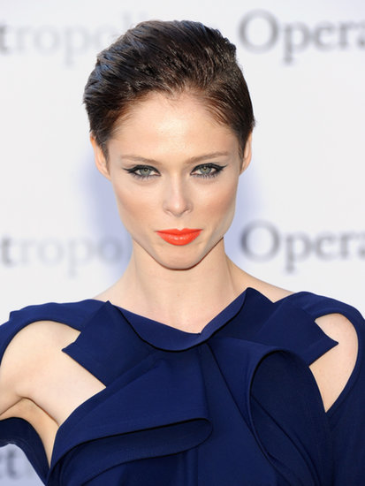 Coco Rocha may have gone for the big chop, but she proved a pixie can get a formal makeover when plenty of gel is involved. Plus, slicked-back hair makes a complementing dress-and-lipstick pairing pop even more.