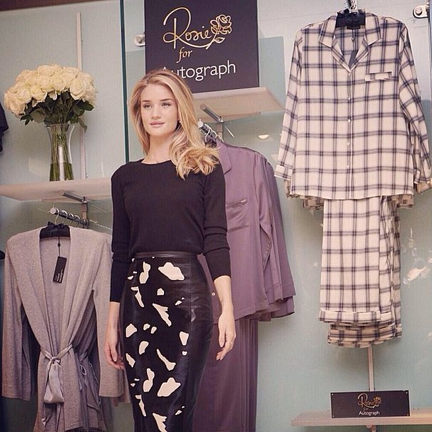 We'll be sleeping pretty in Rosie Huntington-Whiteley's lovely pajamas. Source: Instagram user rosiehw