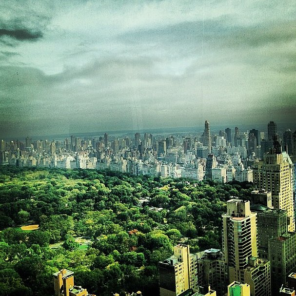 The skies were cloudy over New York, but that didn't mean Joanna Hillman couldn't get a scenic shot. Source: Instagram user joannahillman