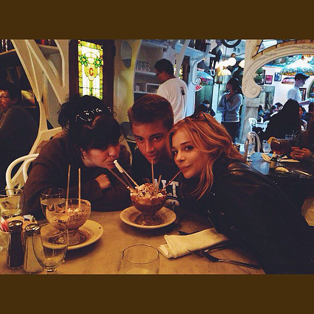 Chloë Moretz grabbed dessert with friends. Source: Instagram user cmoretz
