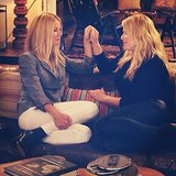Gwyneth Paltrow and Amanda de Cadenet reunited for a segment on The Conversation. Source: Instagram user amandadecadenet