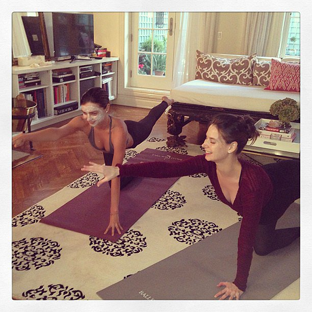 Miranda Kerr multitasked at home. Source: Instagram user mirandakerr