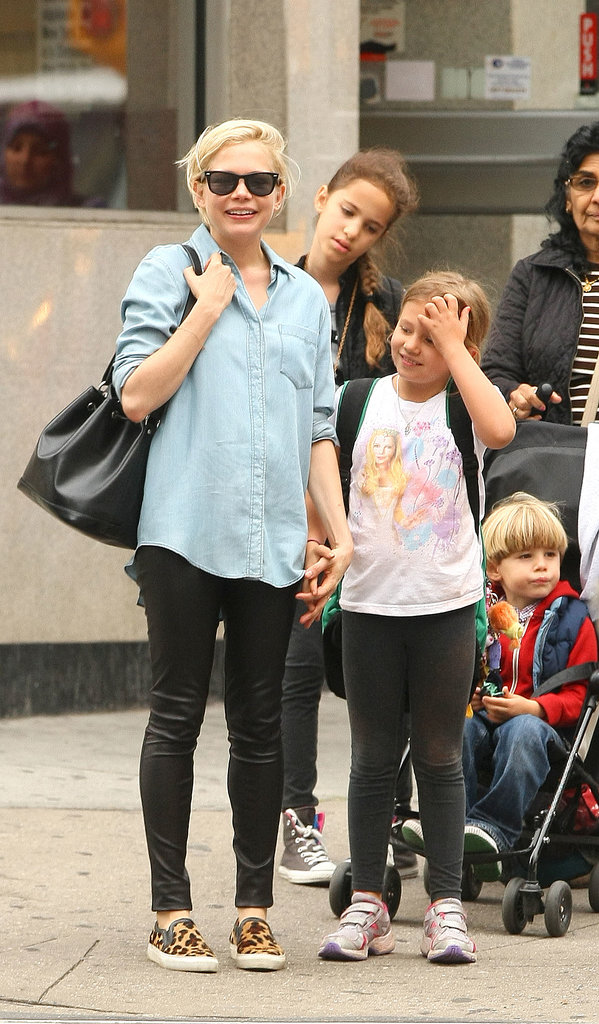Michelle Williams met up with her daughter, Matilda Ledger, in Brooklyn.