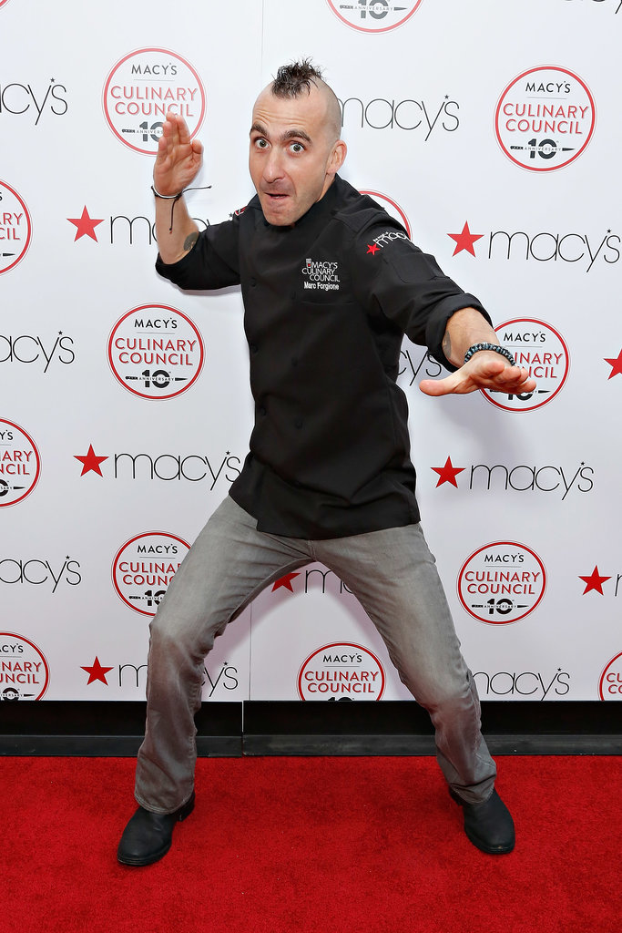Iron Chef Marc Forgione busted his best chairman chop at the 10th anniversary celebration of Macy's Culinary Council in New York Tuesday night.