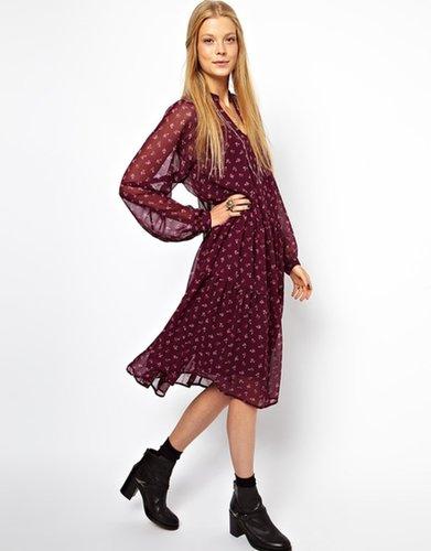 ASOS Midi Dress With Vintage Floral Print