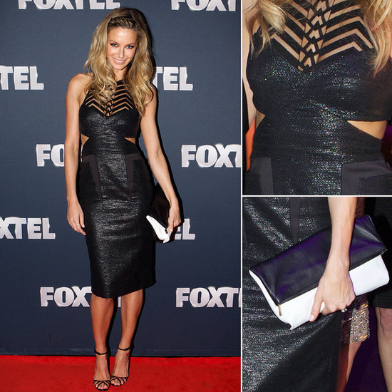 Jennifer Hawkins Steps Out In Shimmering Manning Cartell