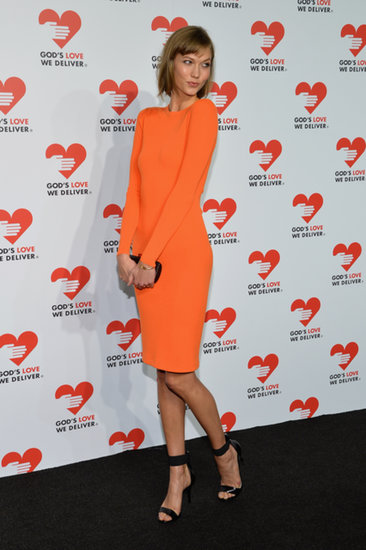Karlie Kloss looked lovely in orange.