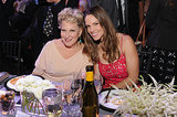 Bette Midler and Hilary Swank sat next to each other at dinner.
