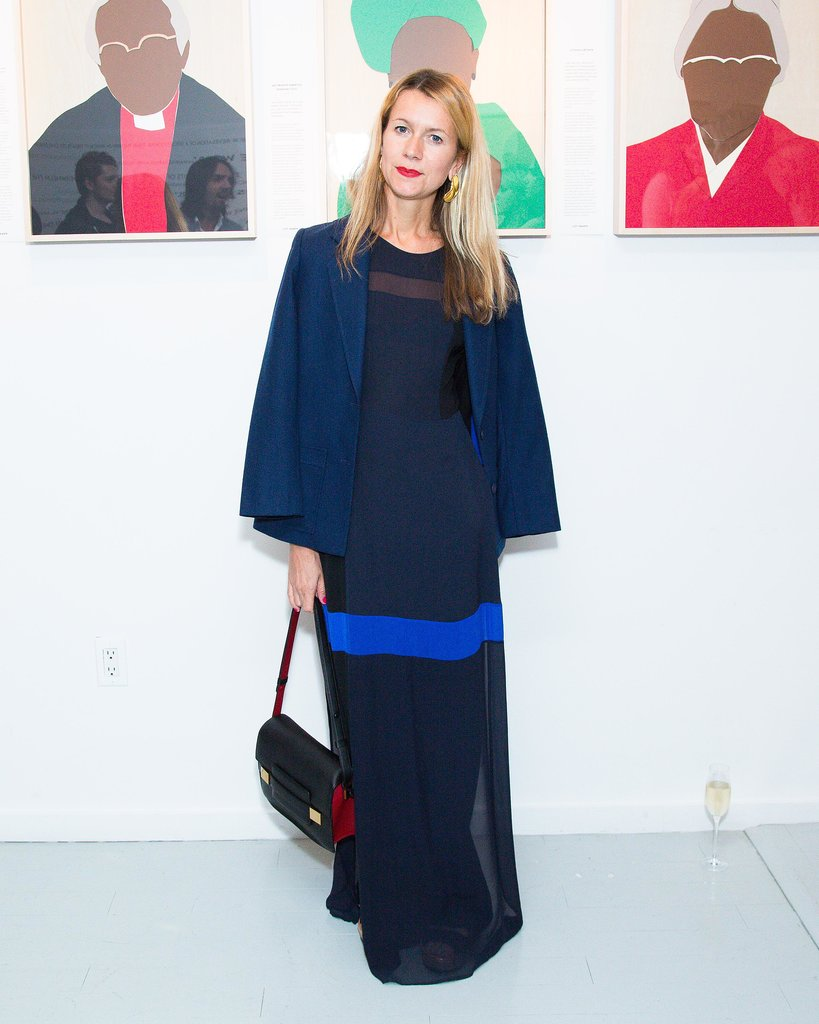 Natalie Joos joined Clarins and Vogue in blue at Haven's Kitchen.