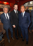 Tom Ford and Valentino Garavani joined Giancarlo Giammetti to launch  Private at London's Claridge's Hotel.