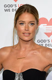 With an undone hairstyle and loads of mascara, Doutzen Kroes looked amazing.