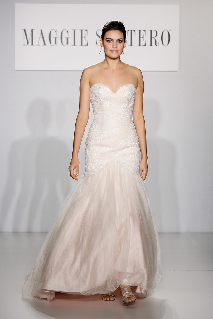 The trends of the wedding dress UK fall 2014 pink type 4