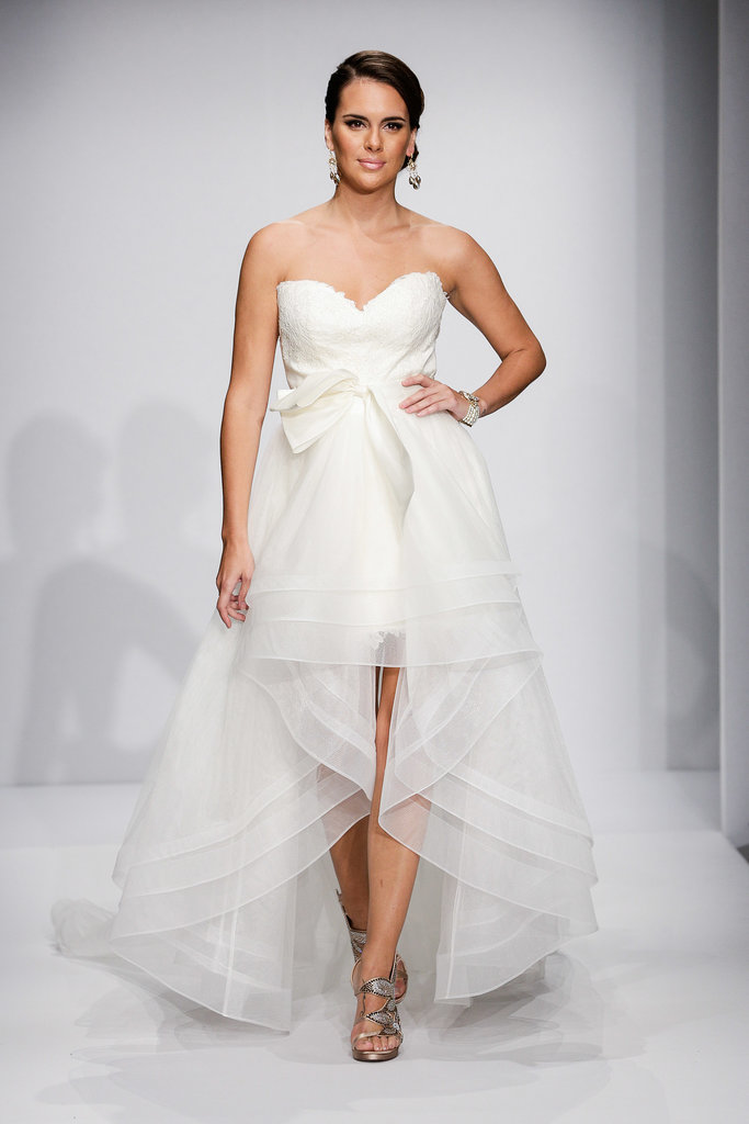 The trends of the wedding dress UK fall 2014 short style 4