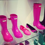 Oh, look! POPSUGAR-pink Hunter boots!