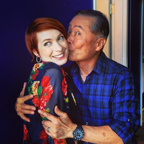 Felicia Day and George Takei Picture