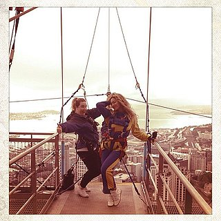 Beyonce Knowles Bungee Jumping in New Zealand