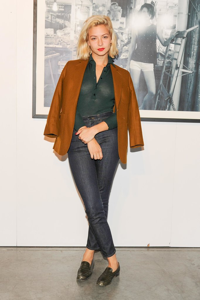 Annabelle Dexter Jones stepped out for the Vans Spring preview in a rich color palette.