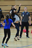Kate Middleton showed off her volleyball skills (and abs!) during an impromptu game.