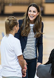 Kate Middleton was all smiles during her Sportaid Athlete Workshop appearance in London.
