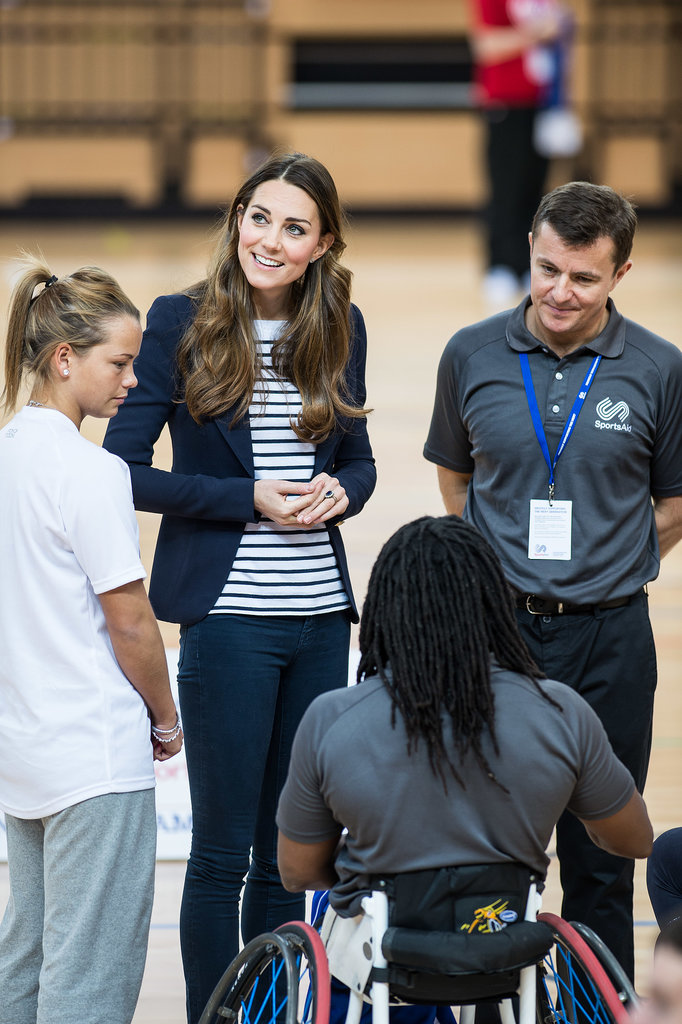 Kate Middleton chatted with some of the athletes during her Sportaid Athlete Workshop appearance.